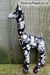 Decopatched papier mache animal
